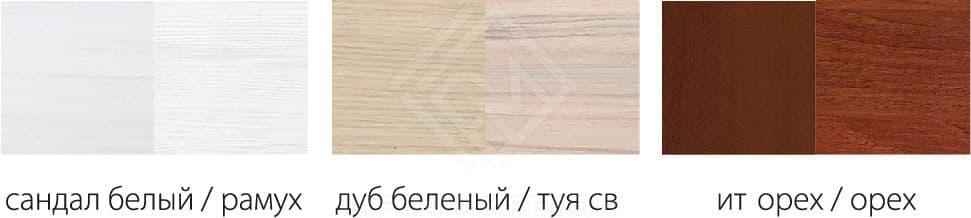 Фото - Шкаф Ева-10  3-х дв мдф мат   Рамух + Сандал белый (№2)