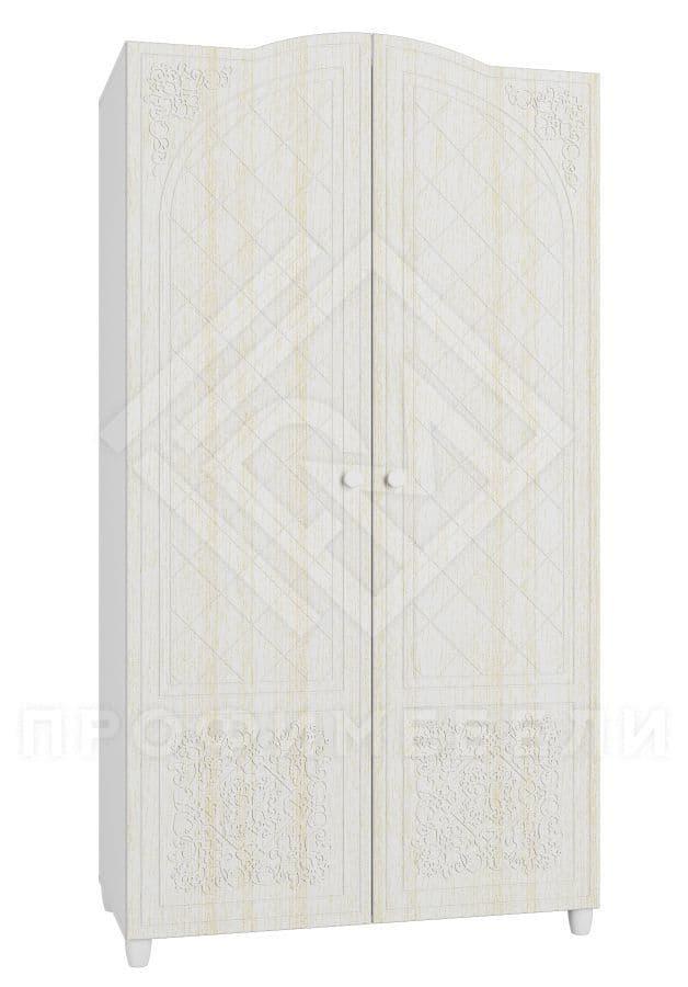 Фото - СО-11 Шкаф 2-х дверный мдф мат Соня Премиум  Белый структурный/Ясень патина (№1)