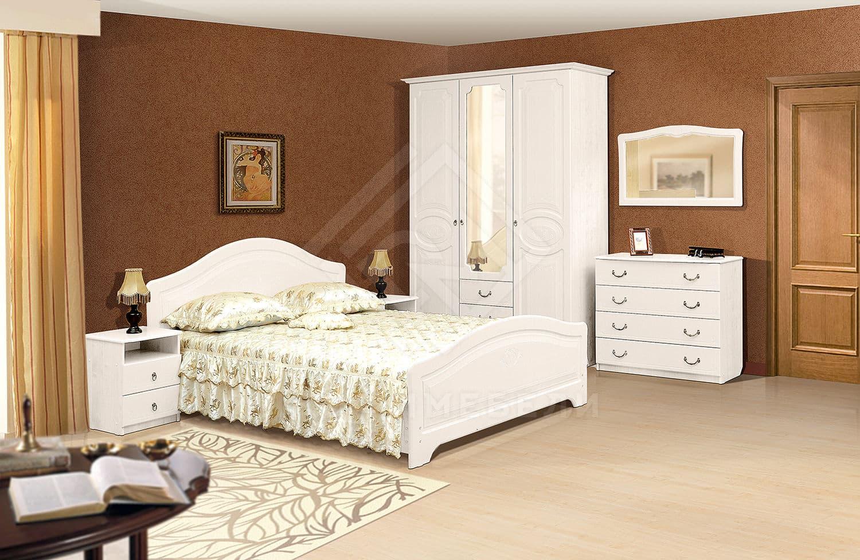 Набор мебели для спальни ивушка-5 с рисунком - клен (ас-м): .