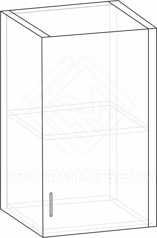 Фото - Профи, ШН 1,3 (500 мм) полка (правый)  Фрез № 4 мдф глян (№1)