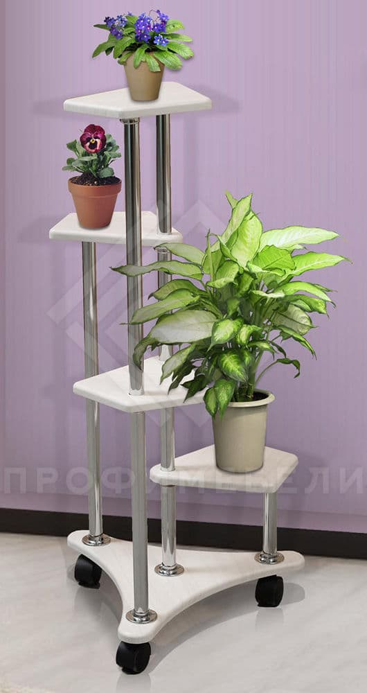 Фото - Подставка под цветы В-6 мдф мат дуб беленый (№1)