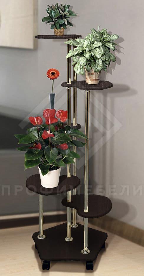 Фото - Подставка под цветы В-2 мдф мат венге (№1)