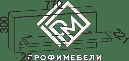 Фото - АМ-05 Полка мдф мат Александрия  Венге подлинный (№2)