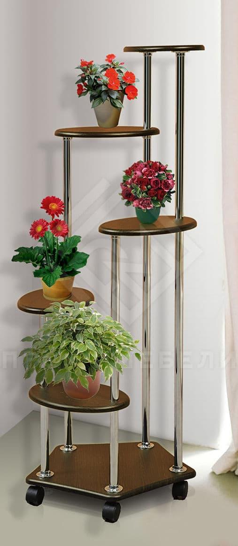 Фото - Подставка под цветы В-5 мдф мат итальянский орех (№1)