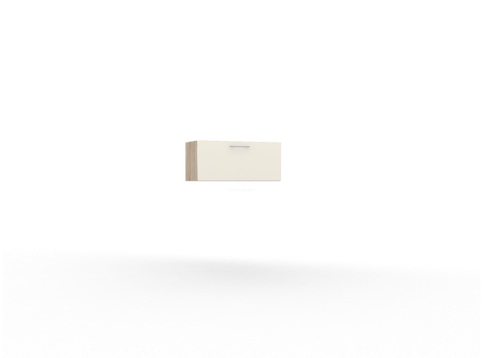 Фото - LUCIDO, Шкаф горизонтальный 800 ШГ-02 (н), нижнее открывание, мдф дуб сонома/тон крем (№2)