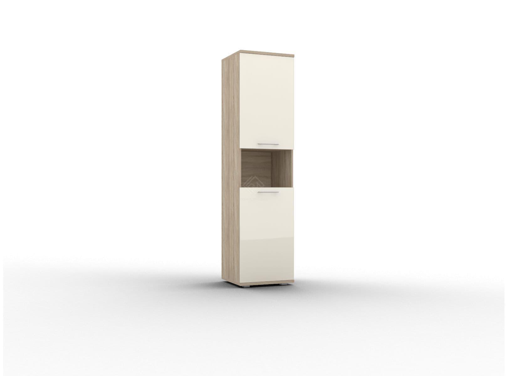 Фото - LUCIDO, Шкаф комбинированный с нишей ШК-02 мдф дуб сонома/тон крем (№2)