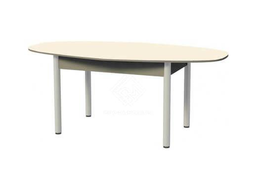 Фото - Стол обеденный парабола (1200)  ноги хром, пластик бежевый (№1)