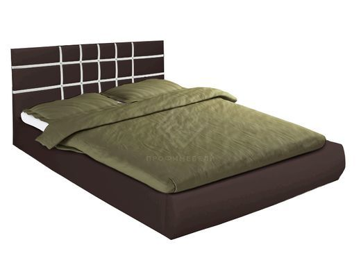 Фото - Кровать Классик с подъемным механизмом 1400х2000 искожа коричневая (№1)
