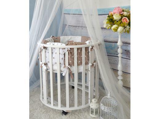 """Фото - Кровать для детей """"Трансформер - 6\1"""" массив \ цвет белый (№1)"""