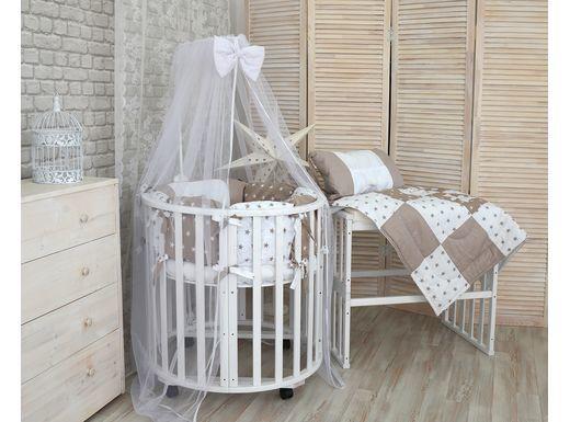 """Фото - Кровать для детей """"Трансформер - 6\1"""" массив \ цвет белый (№2)"""