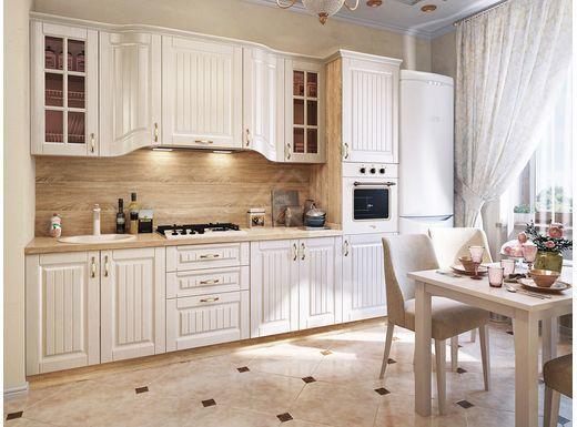 Фото - Эльзас, Кухонный набор 2800 мдф мат белый жемчуг (№1)
