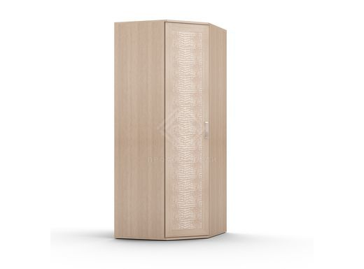 Фото - GLOSS. Шкаф угловой, фасад кожа ШУ (к) выбеленный дуб (№1)