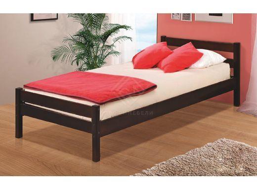 Фото - Кровать одинарная В1 900х2000 массив\ цвет темный орех (№1)
