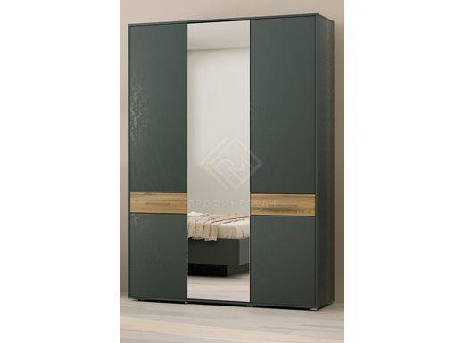 Фото - PORTLAND, Шкаф для одежды ШО-03 (2г/1зр) древесина аттик/черный графит (№1)