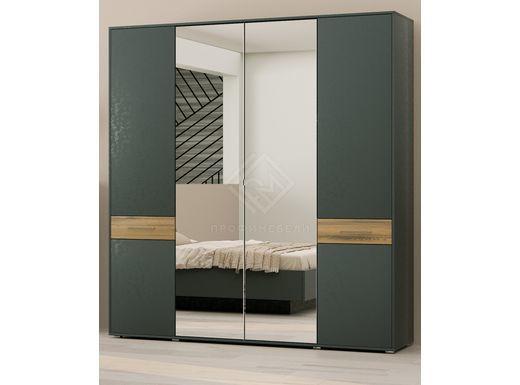 Фото - PORTLAND, Шкаф для одежды ШО-04 (2г/2зр) древесина аттик/черный графит (№1)